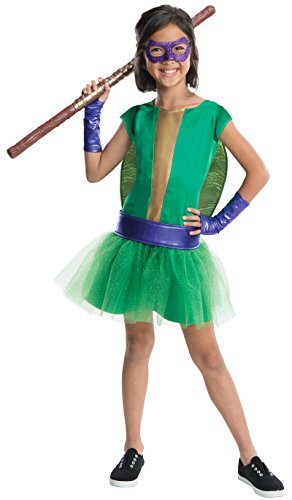 Donatello Kostüm Deluxe Kind - Rubie's Donatello Tortugas Ninja Kostüm Mädchen Deluxe
