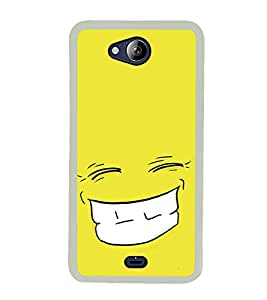 Grin 2D Hard Polycarbonate Designer Back Case Cover for Micromax Canvas Play Q355