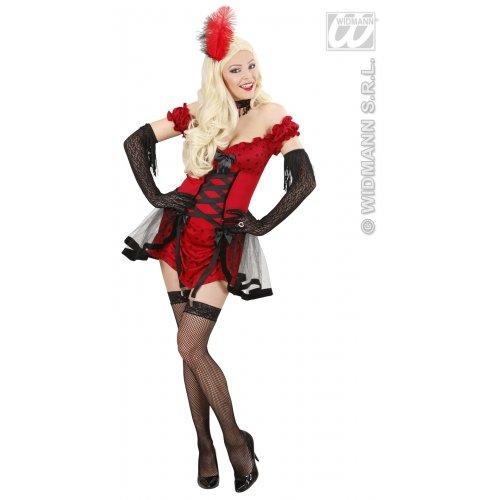 WIDMANN Damen Cabaret-Kostüm für Mädchen, Größe L (40-4), für Wild West Saloon Mädchen Moulin - Kostüm Cabaret Moulin Rouge