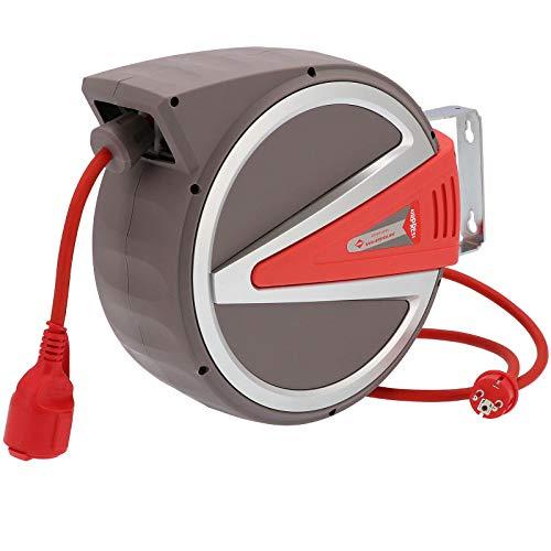 Enrouleur de câble 15 m 3 x 2,5 mm² IP44 230 V