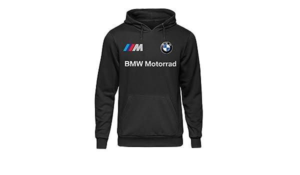 BABUMBA Felpa con Cappuccio BMW Motorrad Mpower Corse Italia Auto Moto Uomo Nero FENE.05