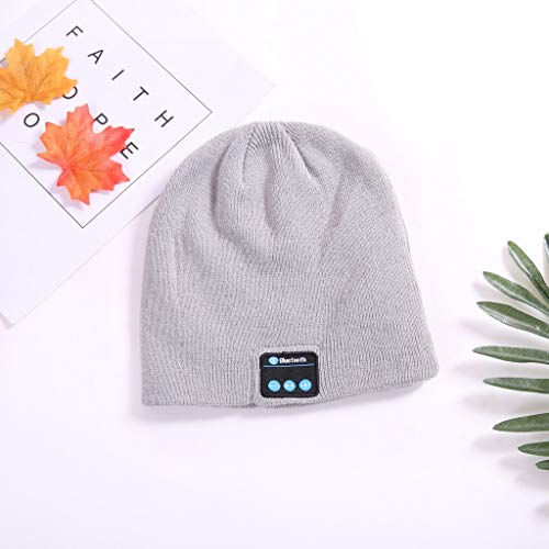(Mitlfuny Black Friay DE Cyber Monday DE,Bluetooth-Musikhut mit Stereo-Kopfhörer-Headset Drahtlose warme Mütze)