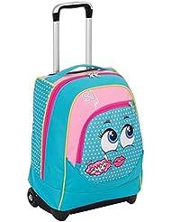 Trolley Big–SJ faccine–Azul Rosa–31LT–Uso mochila Correas Totalmente integrado–Escuela y Viajes
