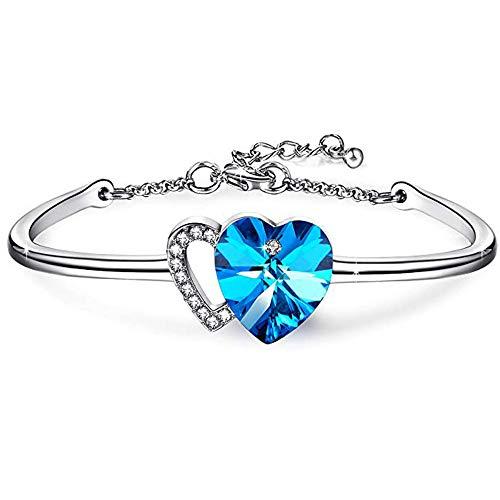 Angelady braccialetti per donna infinito argento