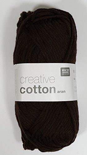 Rico Creative Strickgarn, Baumwolle, Aran, 50g, 58 Braun -
