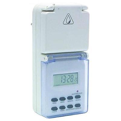 Digitale Zeitschaltuhr für Außen 'DSU-168', IP44, 3500W [Misc.] von NoName bei Lampenhans.de