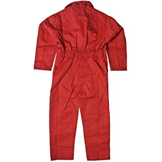 Children's, Kids, Boilersuit, Coverall, Overall, Boys, Girls (Size 26 age 5-6 years, Red)