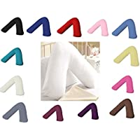 AmigoZone Plain Polycotton Back & Neck Support V Shaped Pillowcase Orthopedic/Pregnency/Nursing Pillow Case (Grey)