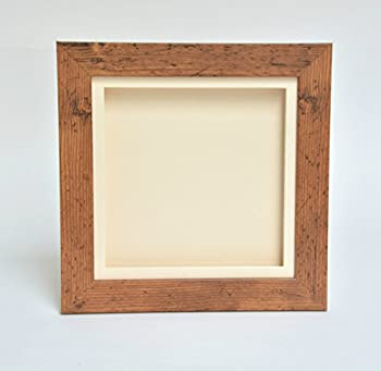 "3d Deep Box Picture Frame Display Memory Box For Medals Memorabilia Flowers Etc (Brown, 8x8"") 0"