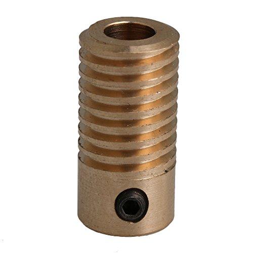 2x9.7x5mm Gelb 0,5 Modul 5mm Lochdurchmesser Messing Schneckenrad Welle für Fahrgetriebe Wurm Rad Industrie Zubehör -