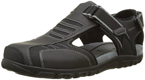 Geox Herren Uomo Sandal Strada A, Schwarz (BLACKC9999), 45 EU