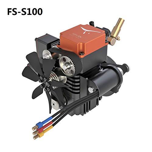 TETAKE Viertaktmotor Modell Bausatz, Methanol Motor, 4 Stroke Engine Modell für 1:10 1:12 1:14 RC Auto/Boot/Flugzeug, TOYAN FS-S100