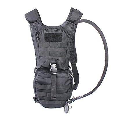 Unigear Hydration Rucksack Trinkrucksack Taktischer Hydrapack mit Trinkschlauch Backpack mit 2,5 l Trinkblase perfekt für Wandern Radfahren Joggen, Spazieren Klettern und Bergsteigen