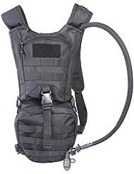 Sac à dos d'Hydratation Tactique, sac vélo avec 2.5L Vessie pour Cyclisme/ Alpinisme/ Excursion/ Course etc