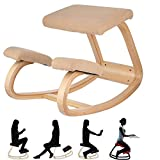 Ergonomischer Balancing-Kniestuhl - Anti-Buckel-Stuhl - Yoga-Computerstuhl - Better Posture Wood Kniing Hocker - Home-Office oder Schreibtischstuhl - Robust und komfortabel - Orthopädischer Hocker (Beige)