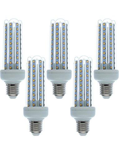 5 Ampoules LED E27 blanc froid 15W=120W d'occasion  Livré partout en Belgique