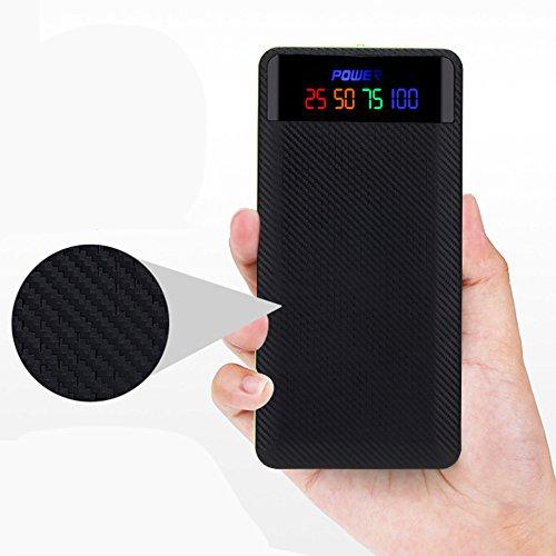 Cewaal 10400mAh 2 Port Power Bank 4x18650 Batterie (PAS IN) Chargeur Boîte LED Affichage Numérique pour iPhone X Tablette Mp3 Black