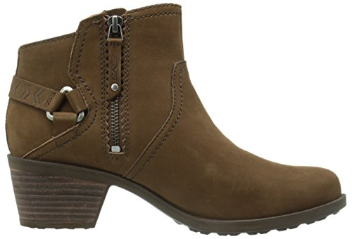 Teva Ladies Foxy Nubuck Leather Buckle Detail Ankle Boots Brown Bison