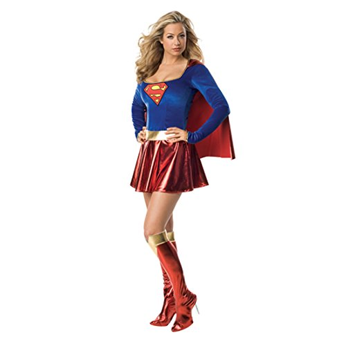 Superwoman Outfit - Superwoman Kostüm L 42/44 Superhelden Karnevalkostüm