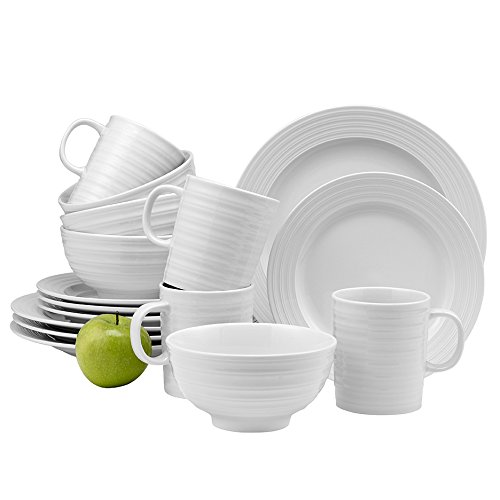 overandback 812493 Camden 16pc Dinnerware Set, Service for 4, White (Overandback Porzellan)