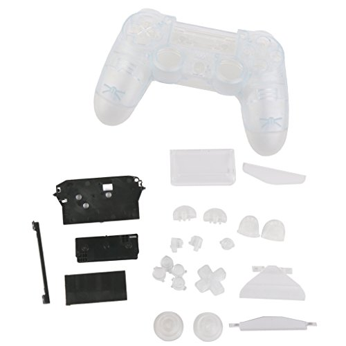 Etui Housse Coque de Protection Bouton Pièce de Rechange pour Sony PlayStation4 PS4 Manette - Transparent