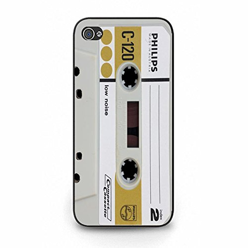 Iphone 5/5s Magnetic Tape Shell Cover,Personality Cusom Music Tapes Phone Case Cover for Iphone 5/5s Cassettes Cool Color128d