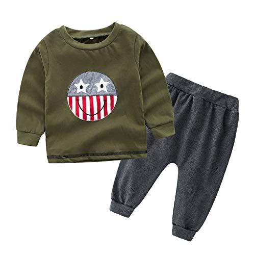 2 Pcs Kleinkind Kinder Jungen Kleider Set Tarnen T-Shirt Tops und Lange Hosen Outfits Schwarz 2T-7T