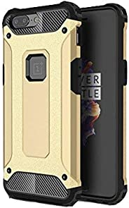 Brain Freezer Back Cover Rugged Solid Black Shock Proof Slim Double Armor Case Compatible with one Plus 5 Gold