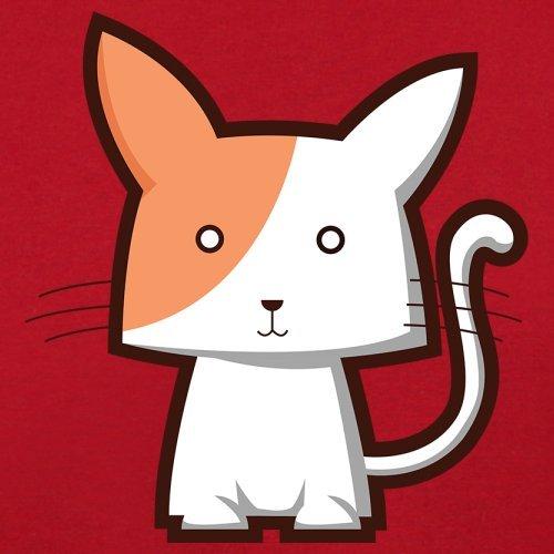 Cute Cat - Herren T-Shirt - 13 Farben Rot