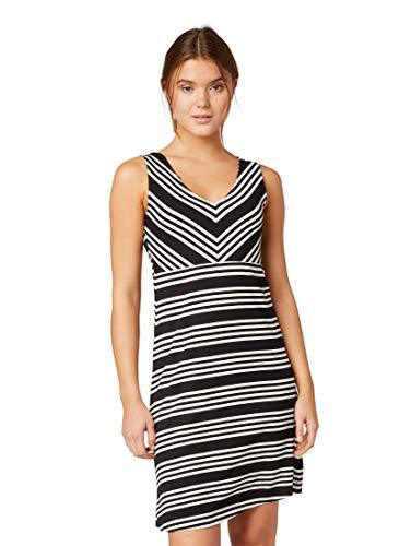 TOM TAILOR Casual Damen Gestreiftes Kleid, Schwarz (Black White Stripe 17265), Herstellergröße: 40