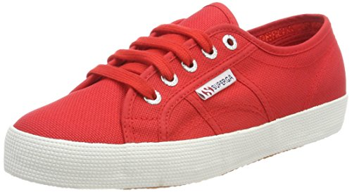 Superga Unisex-Kinder 2750 Cotbump Sneaker, Rot (Red White), 36 EU