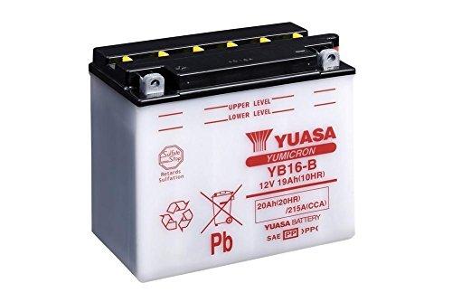 Motor–Batteria moto YUASA yb16della B, 12V/19ah (dimensioni: 176X 101X 156)