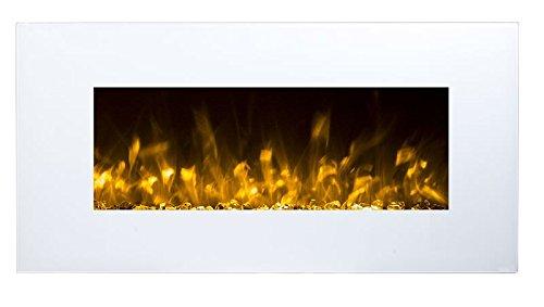 Chimenea Eléctrica Glow Fire Neptun, chimenea de pared eléctrica (1500W calefactor, LED...