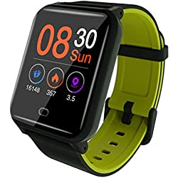Wokee_Smart Watch - Montre de sport étanche avec compteur de pas, compteur de calories et montre Smart Fit pour femmes, hommes, pour Android et iPhone
