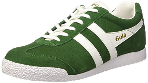 Gola Harrier Suede, Baskets Basses Homme Vert - Grün (Dark Green/White)