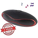 King shine® Mini-X6U Portable Wireless Bluetooth Rugby Style Mobile/Tablet Speaker colour may very. (black)