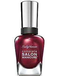 Sally Hansen Complete Salon Manicure Nagellack mit Keratinkomplex Belle of the Ball, Bordeaux, glänzender Pflegelack ohne UV-Licht, langanhaltend, Nr. 641, (1 x 14,7 ml)