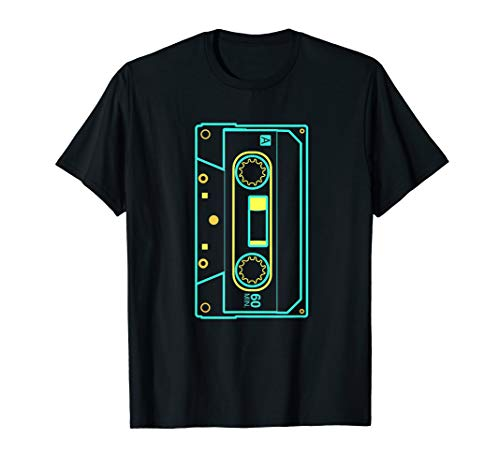 Retro Kassette T Shirt 80s 90s Disco Party (80's Disco Party Kostüm)