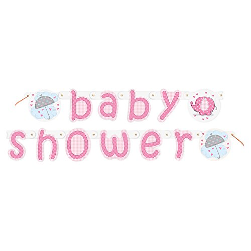 Unique Party Supplies 5 ft Pink Elefant Baby Dusche Banner