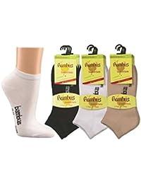 6 Paar superweiche Bambus Sneaker-Socken für Sie und Ihn - Optimaler Tragekomfort - Kein drückendes Gummi - Ideal für Business, Sport und Freizeit (35-38, 39-42, 43-46, 47-50).