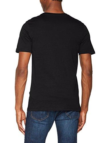 JACK & JONES Herren T-Shirt Jcomarker Tee Ss Crew Neck Schwarz (Black Fit:Slim)
