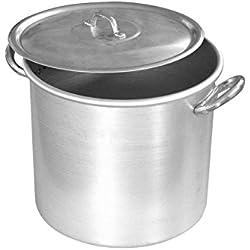 Home Olla para Tomate, Aluminio, Plata, 34 litros