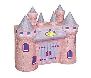 Unique Party- Piñata castillo de princesa, Color rosa (66266)