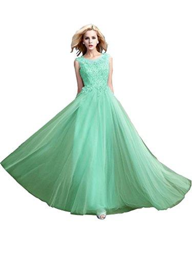 Beauty-Emily Hochzeitskleider Junge Damen Vintage Maxi Günstig O Ausschnitt Perle Rückenfrei...