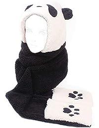 ECMQS Echarpe Femme - 3 En 1 Panda De Bande Dessinée Chapeau Casquette à  Capuche En Peluche Gants De Patte Poche De Mitaine Ensemble… a16a47a6fa3