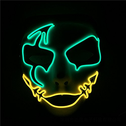 L kaltes Licht LED Glow Flash handbemalte Maske Halloween dekorative Requisiten (Benutzerdefinierte Halloween Requisiten)