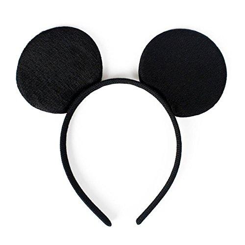Maus Ohren und Schleife   Haarreif Haarschmuck für Kinder und Erwachsene (Schwarz) ()