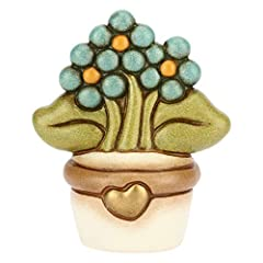Idea Regalo - THUN ® - Vasetto soprammobile Piccolo con Fiore Non Ti scordar di Me - Ceramica - h 6,2 cm - Linea I Classici