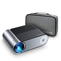 ‏‪AMERTEER Mini Projector, L4200 Portable Video Projector, Full HD 1080P Outdoor Movie Projector 3800 Lux with 50,000 Hrs, Compatible with Fire TV Stick, PS4, HDMI, VGA, AV and USB‬‏