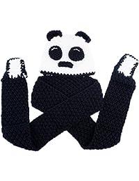 Gorros con Bufanda Bebe Sombrero Panda Niño Niña Invierno Beanie de Punto  Earflap Gorras Conjunto Cosplay d90640c0d2e